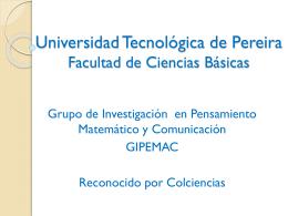 Presentación-GIPEMAC - Blog - Universidad Tecnológica de Pereira