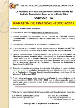 CONVOCATORIA MARATON DE FINANZAS