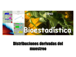 distribuciones derivadas de la muestra