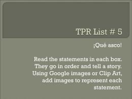 TPR List # 5 - Nthsweb.net