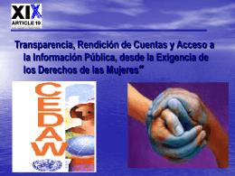 Gabriela Morales. Transparencia, Rendición de Cuentas y Acceso a