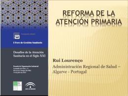 reforma de la atención primaria Portugal