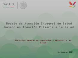 5. Modelo de Atención Integral de Salud basado en Atención