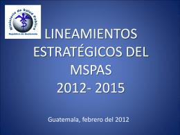 Lineamientos estrategicos MSPAS 2012-2015