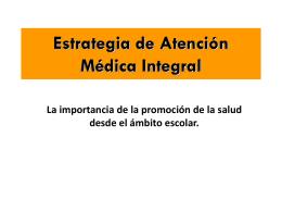 Estrategia de Atención Médica Integral