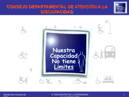 CONSEJO DEPARTAMENTAL DE ATENCIÓN A LA DISCAPACIDAD