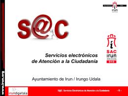 S@C - Servicios Electrónicos de Atención a la Ciudadanía