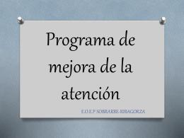 Programa de mejora de la atención