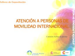 Atención a personas de movilidad internacional