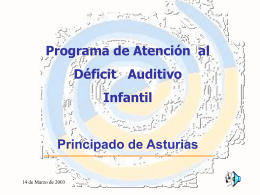 Incidencia de hipoacusia - Gobierno del principado de Asturias