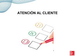 Presentación sobre la atención al cliente