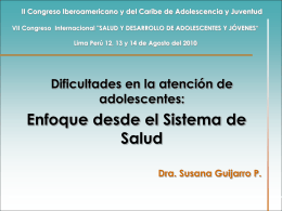 Dra. Susana Guijarro-Dificultades en la atención de adolescentes