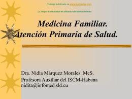 Medicina Familiar. Atención Primaria de Salud.