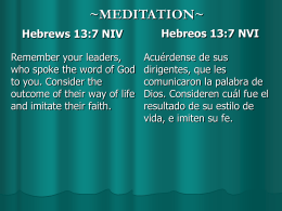 Hebrews 9:24-28 (N.I.V.)