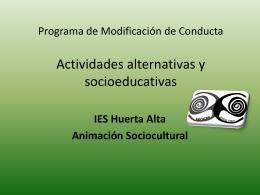 Programa de Modificación de Conducta Actividades alternativas y