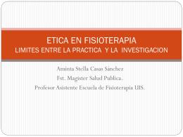 etica en fisioterapia limites entre la practica y la investigacion