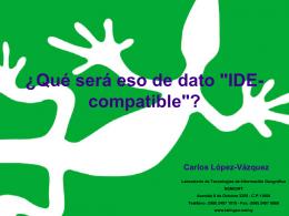 """¿Qué será eso de dato """"IDE-compatible""""?"""
