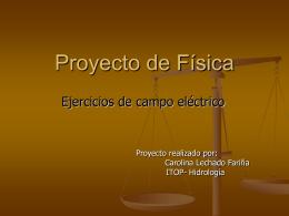 Problemas Electrostática.