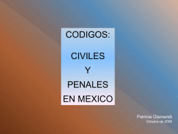 Incompatibilidad de los códigos civiles y penales con los