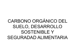 carbono orgánico del suelo, desarrollo sostenible y seguradad
