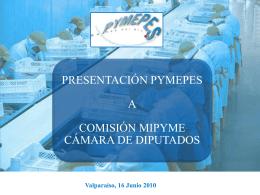 comisión mipymes cámara de diputados