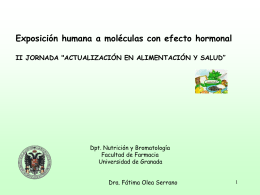 Exposición humana a moléculas con efecto hormonal