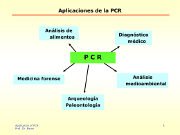 Aplicaciones de la PCR