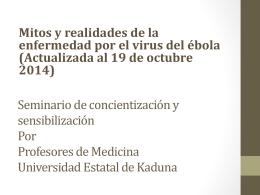 Mitos y realidades de la enfermedad por el virus del ébola