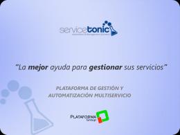 Plataforma de Gestión y Automatización