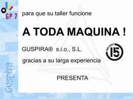Presentación GP7 - GUSPIRA sio, SL