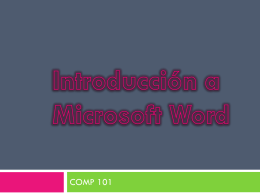 Introducción a MS-Word