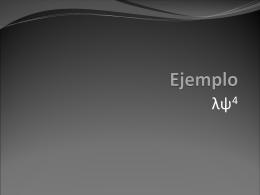 Ejemplo - Cinvestav