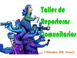 TALLER DE REPORTEROS COMUNITARIOS