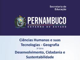 Desenvolvimento, Cidadania e Sustentabilidade