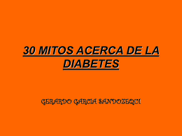 30 MITOS ACERCA DE LA DIABETES