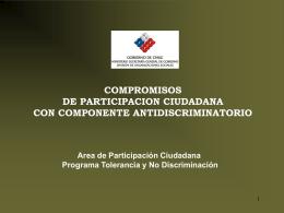 Plan Por la Tolerancia y No Discriminación 2004