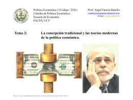 Tema 2 - Política Económica I