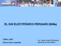 El DNI Electrónico Peruano (DNIe)