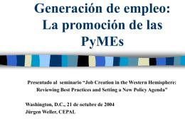 La promoción de las PyMEs