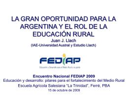 LOS GRANDES DESAFÍOS DE LA EDUCACIÓN ARGENTINA