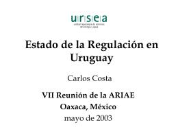 Estado de la Regulación en Uruguay