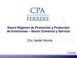 Cra. Isabel Hounie - Cámara Nacional de Comercio y Servicios