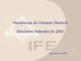 Presentación de PowerPoint - Instituto Nacional Electoral