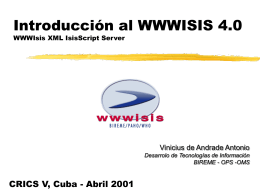 Tutorial Introducción al WWWISIS 4.0
