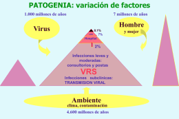 PATOGENIA: variación de factores