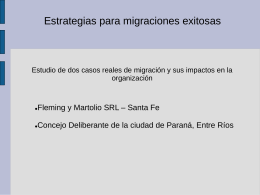 Estrategias para migraciones exitosas