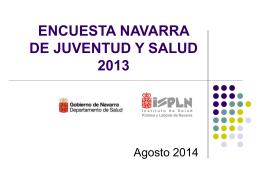 ENCUESTA NAVARRA DE JUVENTUD Y SALUD 2013