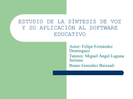 estudio de la sintesis de voz y su aplicación al software educativo