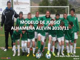modelo de juego alhameña alevín 2011/12