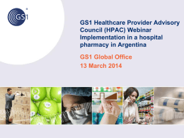 "Drugs traceability: ""Implementation in a hospital pharmacy in"